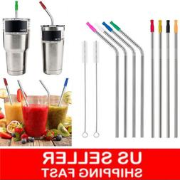 """10.5"""" Long Reusable Stainless Steel Drinking Straws Metal fo"""