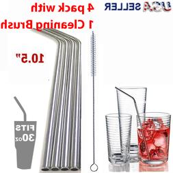 10 5 long reusable straws stainless steel