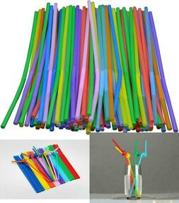 10 Inch Extra Long Colorful Flexible Bendy Party Disposable