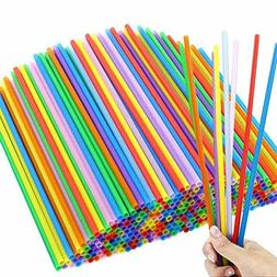 10 Inches Disposable Color Drinking Straws 300pcs Plastic St