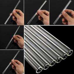 10mm Reusable Thick Straws Wedding Birthday Party Clear Glas