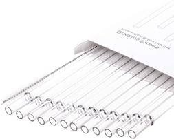 """13"""" Long Clear Reusable Plastic Replacement Drinking Straws"""