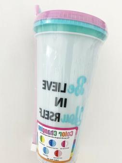 """2-pack Color Changing Cups """"believe In Yourself"""" Tumbler"""