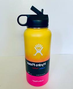 Hydro Flask  32oz Ombre Edition with Straw Lid - Lemon Pink