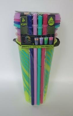 4 Pack TAL 2020 Summer Pattern Color Changing Reusable Cold