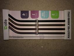 Ello 4pk Stainless Metal Straws  with cleaner