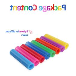 8x Reusable Silicone Tips Cover Food Grade For 6mm Stainless