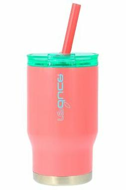 reduce COLDEE Vacuum Insulated Kids Tumbler,Straw,14oz-Coral