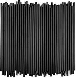 Disposable Tumbler Straws - 10 Inches Tall Black, 250