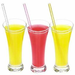 Drinking Plastic Glitter Replacement Straws Reusable, Party