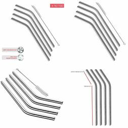 SipWell Extra Long Stainless Steel Drinking Straws Set of 10