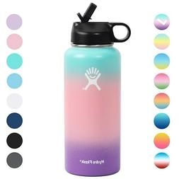 Hydro Water Bottle 32OZ Wide Mouth with Straw Lid Stainless