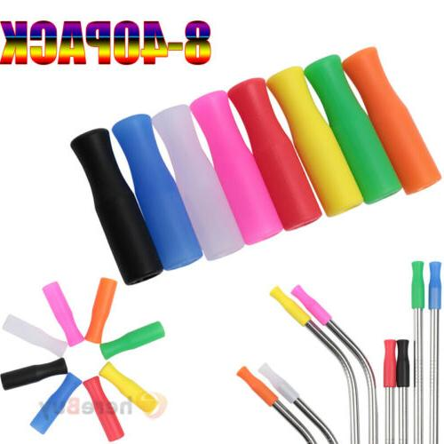 lot silicone straw tips covers fit