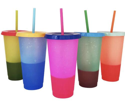 set of 5 24oz color changing crafting