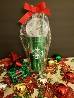 NEW Starbucks 2019 Holiday Green 16 oz. Acrylic Cold Cup wit
