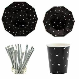 Paper Tableware Set Party Needs Supply Disposable Plates Cup