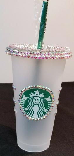 Starbucks RHINESTONE 24oz Reusable Cold Cup with Straw 7 col