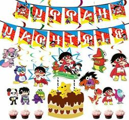 Ryan's World Party Supplies Cups Plates Tablecloth Napkins R