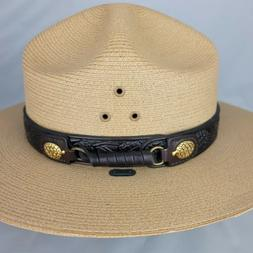 Stratton Self Forming National Park Service Straw Hat Size 7