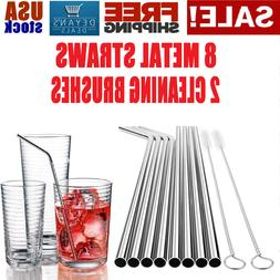 Stainless Steel Straws Long Reusable Metal Drinking STRAW fo