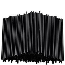 Stirring Straws for Coffee Cocktail Black Plastic Sipping St