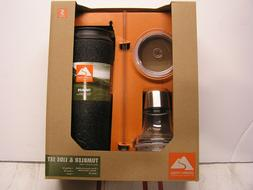 Ozark Trail tumbler & lids set, Vacuum insulated stainless s