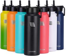 Sunwill Water Bottle With Straw 40Oz Insulated Reusable Stai