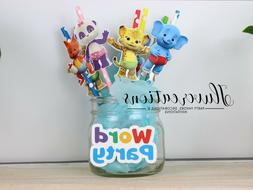 Word Party Straws, Word party decorations, word party theme,